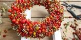 Krok za krokem: Vyrobte si podzimní věnec na dveře ze šípků