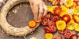 Dušičky se blíží: Jak vytvořit slaměnkový věnec