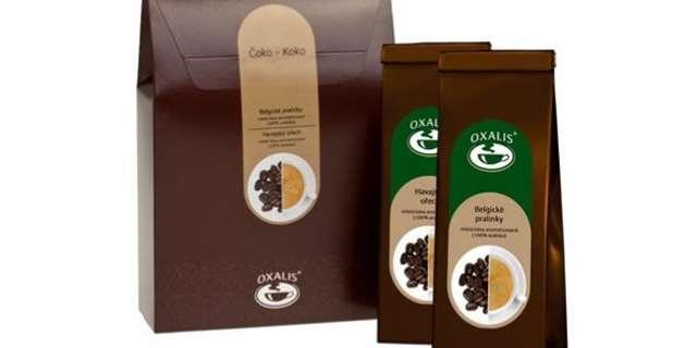 295c986888a ČOKO - KOKO - dárkové balení mleté aromatizované kávy Belgické pralinky a  Havaský ořech