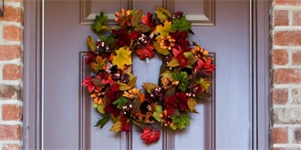 Nejkrásnější podzimní věnce na dveře. Který byste si vybrali?
