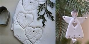 Studený porcelán: Jak vyrobit ozdoby na stromeček ze škrobu a jedlé sody