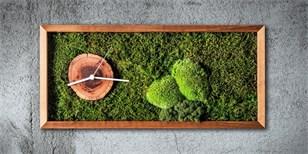 Jak pozvat přírodu domů: Tipy na květinové obrazy i hodiny z mechu